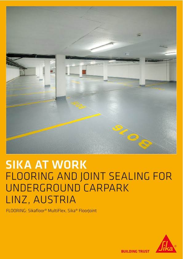Flooring and Joint Sealing for Underground Car Park in Linz, Austria